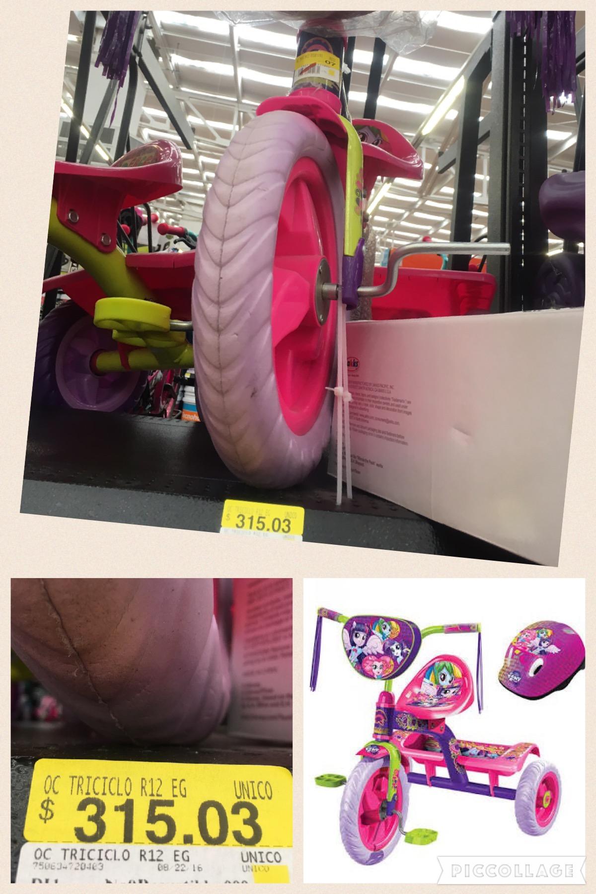 Walmart Metepec: triciclo R12 para niña a $315.03
