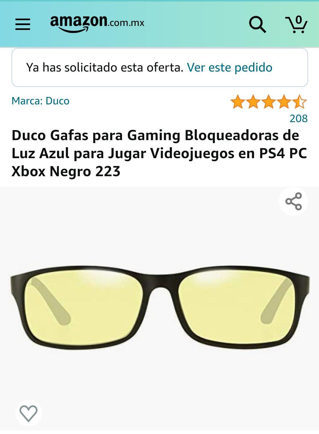 Amazon: Gafas para el gaming o para el homeoffice protectoras de luz azul