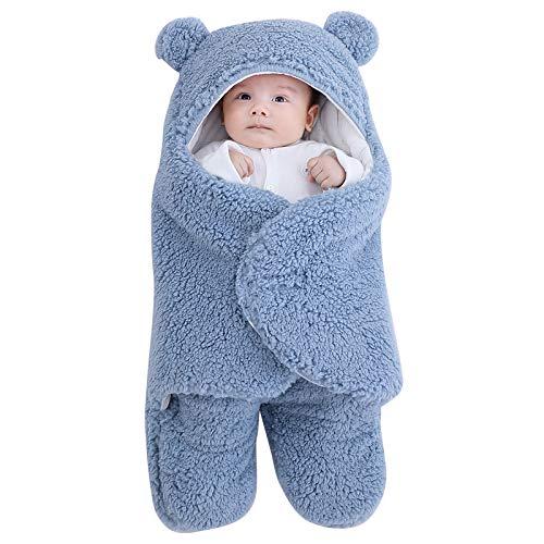 Amazon: Manta con capucha para bebé, recién nacido, invierno, suave, cálida, forro polar, para niños y niñas