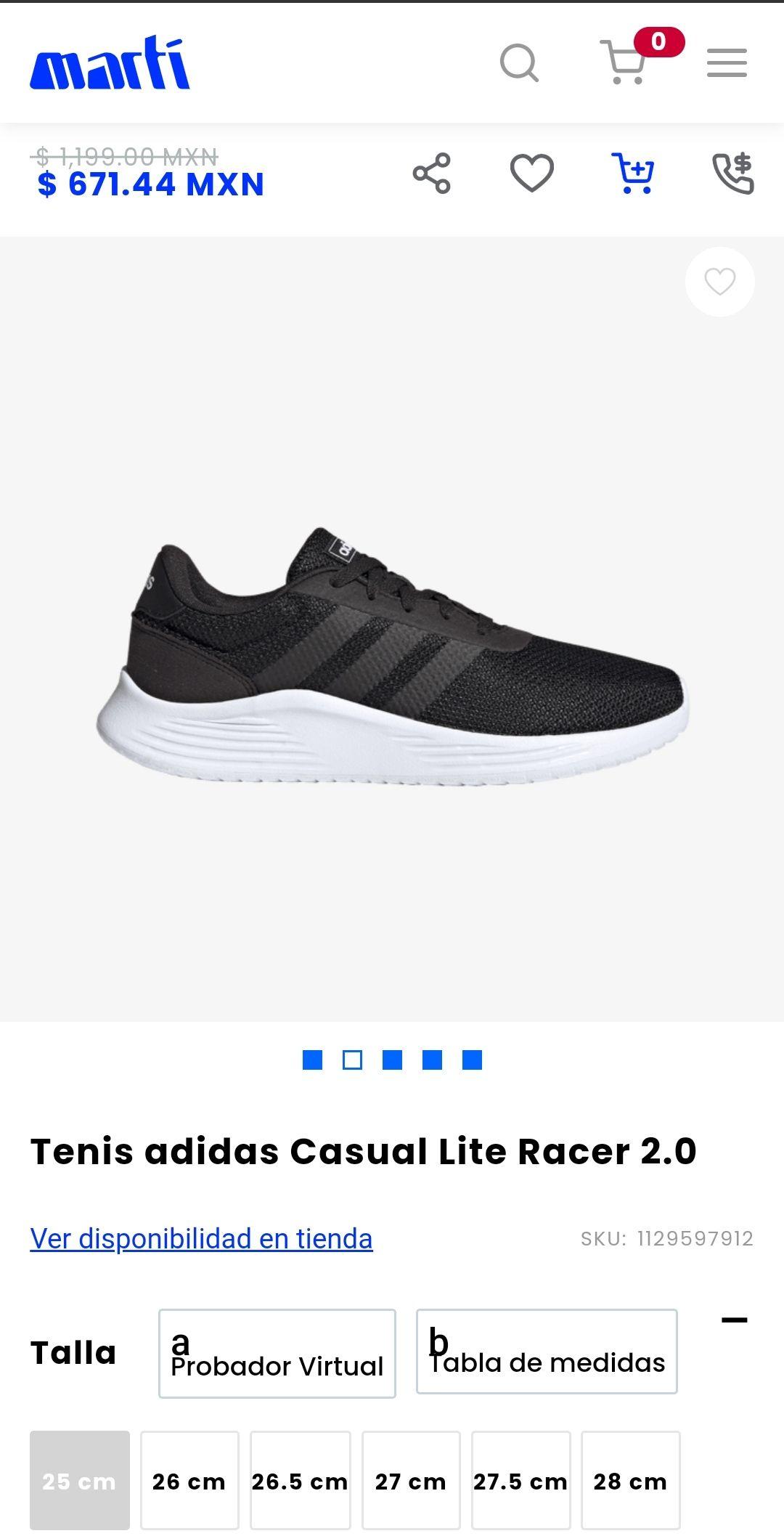 Adidas Lite Racer 2.0 en Marti