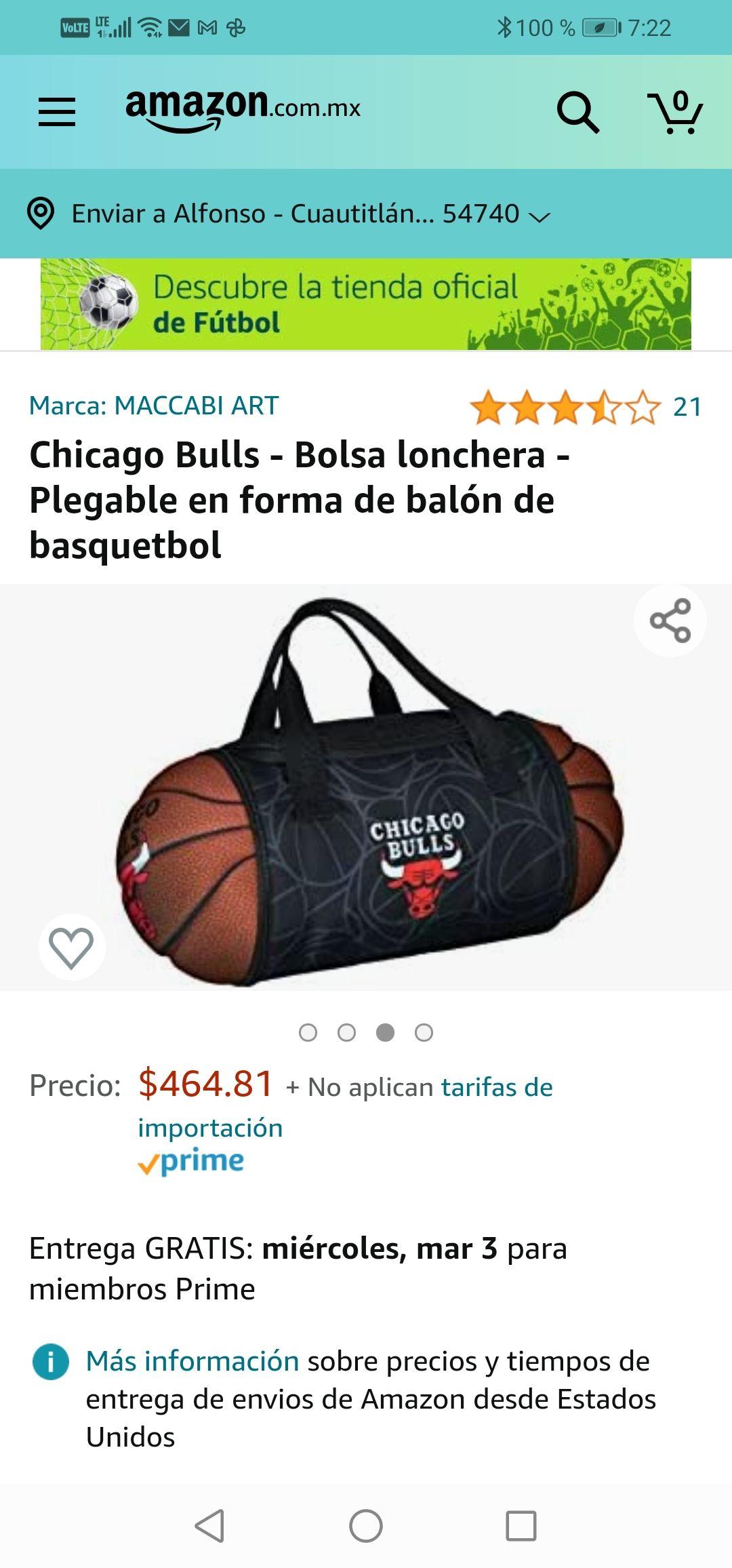 Amazon :Chicago Bulls - Bolsa lonchera - Plegable en forma de balón de basquetbol