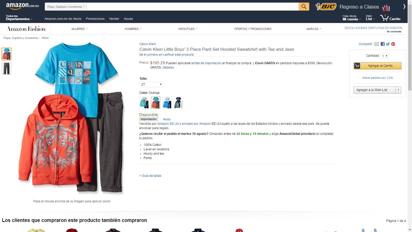 Amazon Mexico: Conjunto Calvin Klein 3 piezas a $195