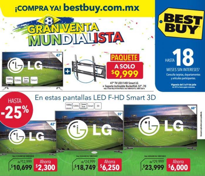 Folleto de ofertas en Best Buy del 3 al 9 de julio