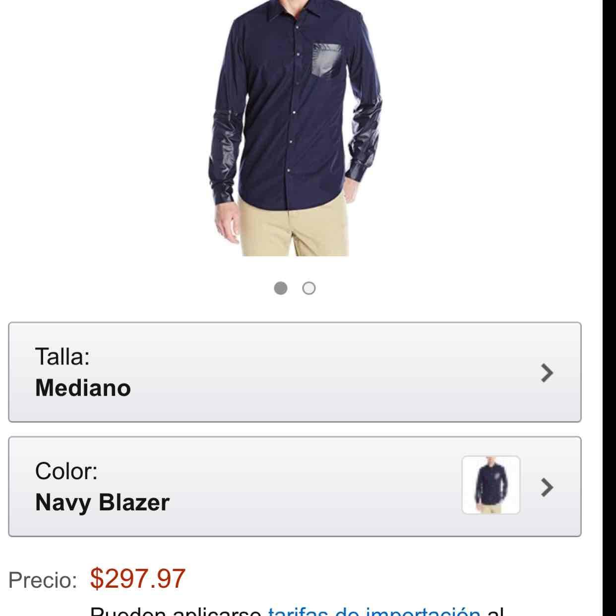 Amazon México Camisa Calvin Klein (disponible en azul y negro)