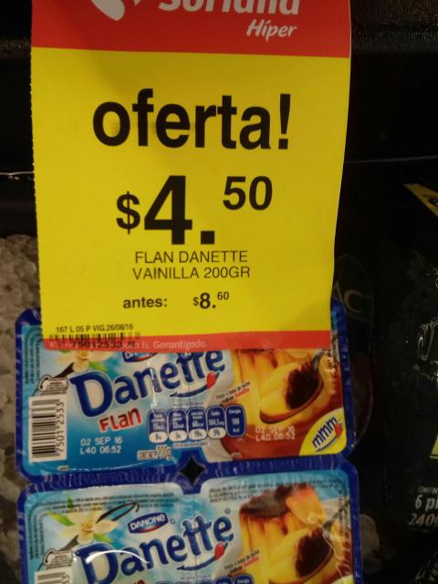 Soriana Hiper Huatulco: Flan Danette de 200 grs a $4.5