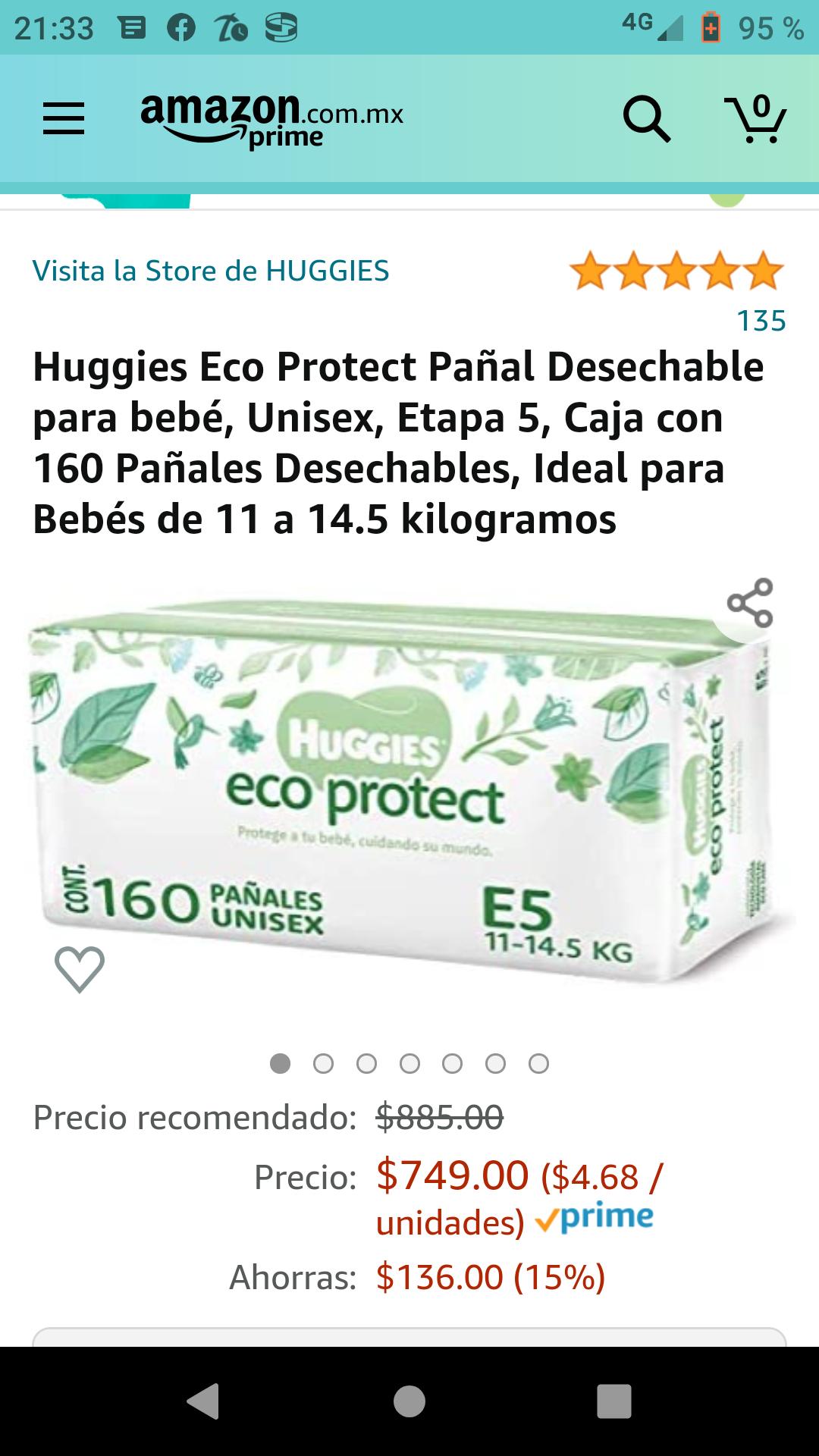 Amazon: Huggies eco protect