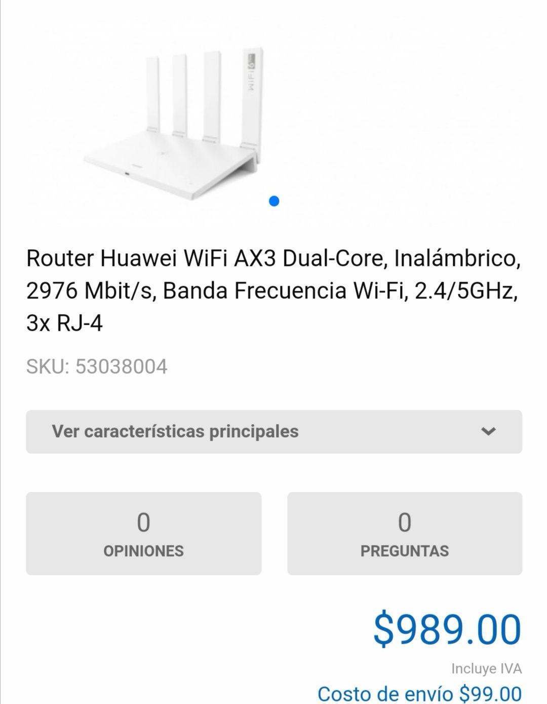 CyberPuerta: Router huawei AX3 dual core wifi 6+ en cyberpuerta