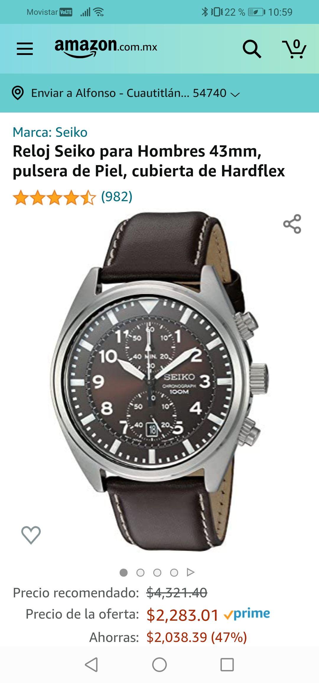 Amazon :Reloj Seiko Cronógrafo.