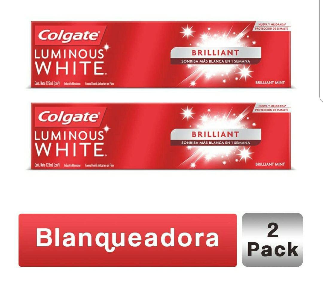 Amazon: Pack Pasta Dental Colgate Luminous White Blanqueadora 125 ML, 2 piezas