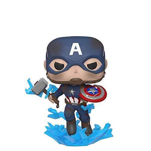 Amazon: Funko - Pop! Marvel: Avengers Endgame - Captain America with Broken Shield & Mjoinir Figurina de Colección, Multicolor, 45137
