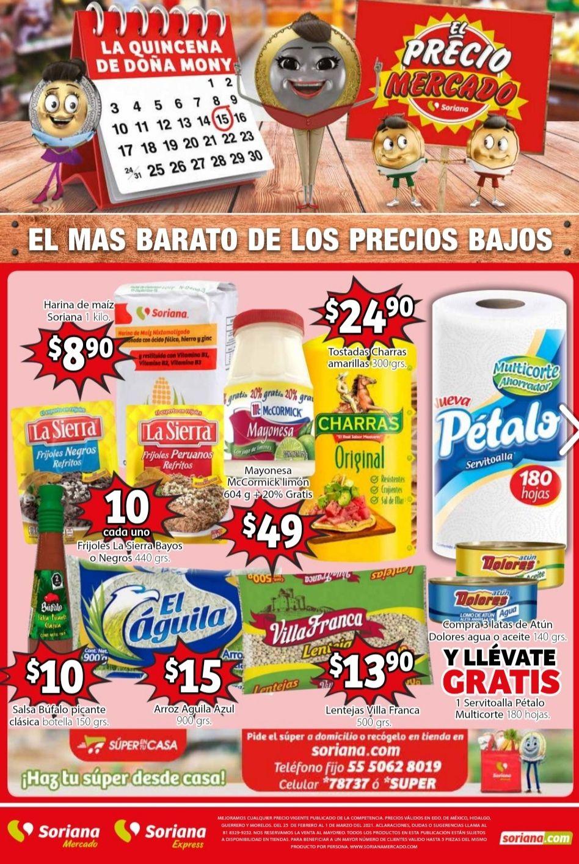 Soriana Mercado y Express: Folleto de Ofertas Fin de Semana al Lunes 1 de Marzo