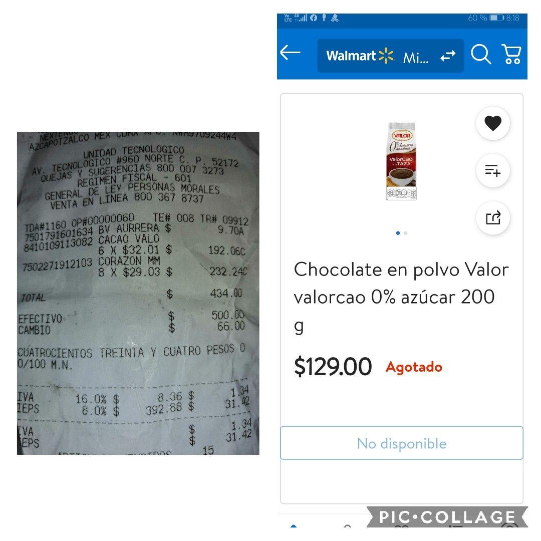 """SUPERAMA: CHOCOLATE EN POLVO,""""VALORCAO"""", EN ÚLTIMA LIQUIDACIÓN, A TAN SOLO 32.01!!! Y CACAHUATES CONFITADOS POR 29.03"""