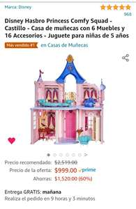 Castillo Disney Hasbro Princess Comfy Squad en Amazon