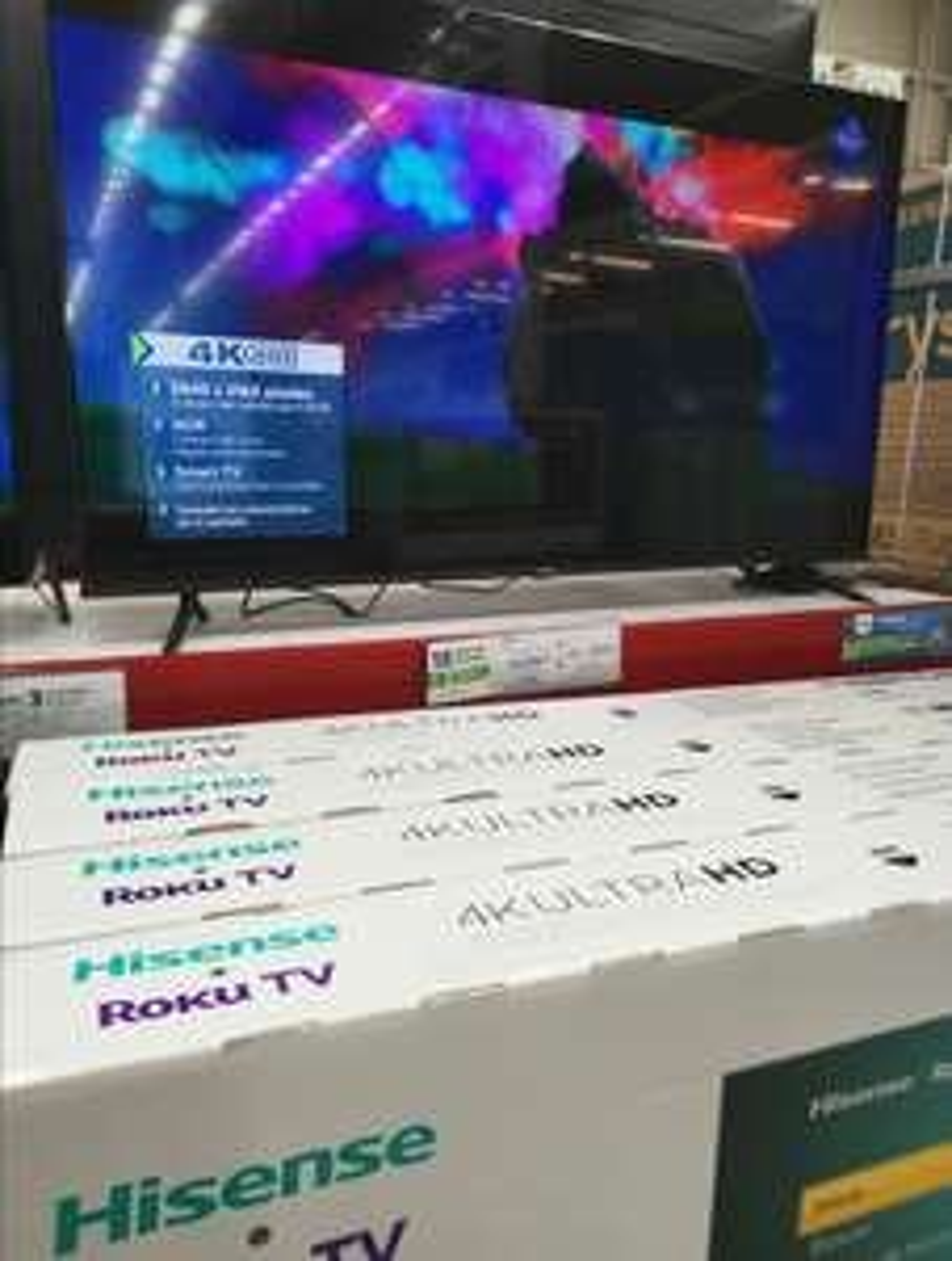 Sams Club : TV Hisense 65 pulgadas 4K UHD con roku TV y otra