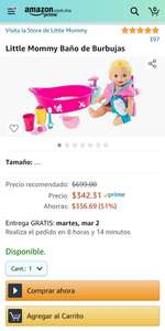 Amazon: Little Mommy baño de burbujas