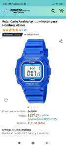Amazon: Reloj Casio Illuminator con las 3B's