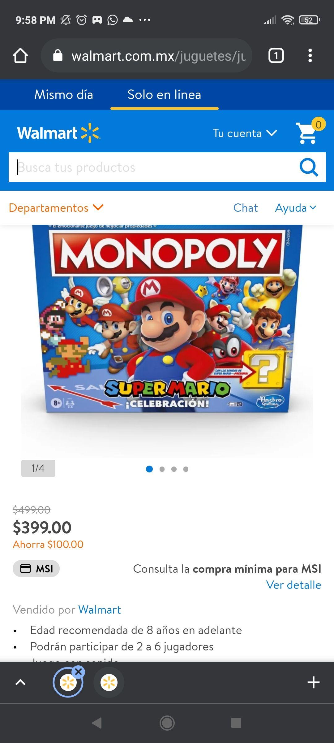 Walmart; Monopoly Super Mario Bros