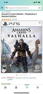 Amazon: Assassin's Creed Valhalla PS5