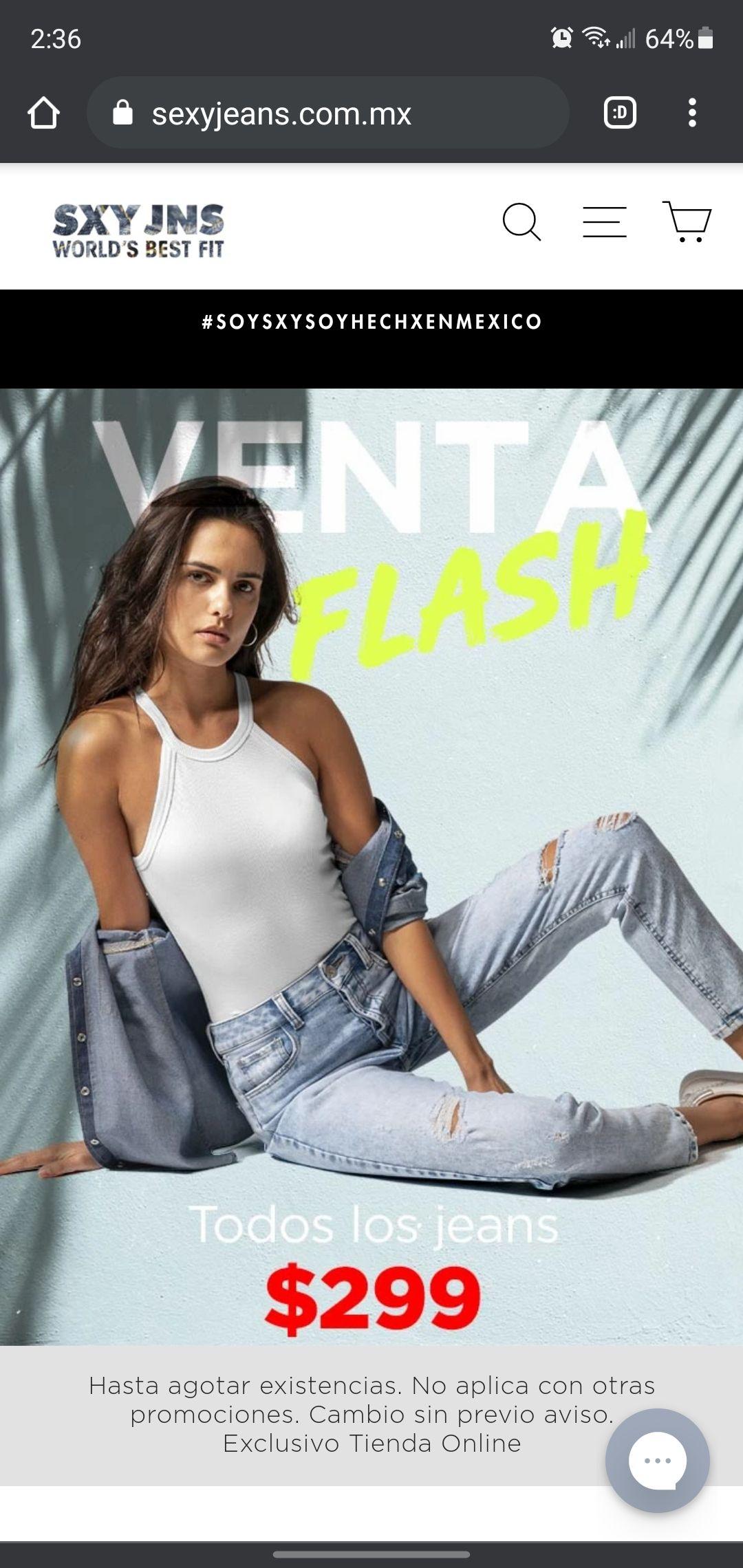 Pantalones Sexy Jeans $299