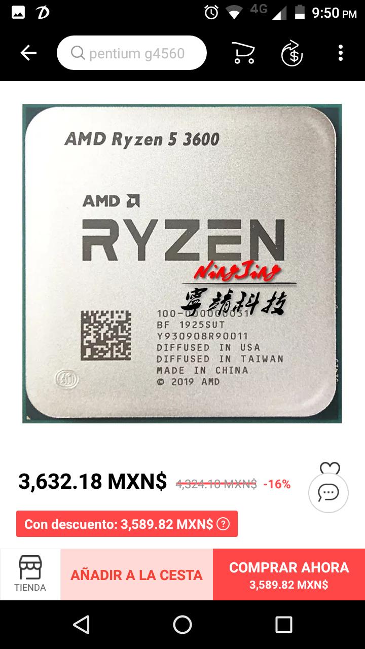 Aliexpress: Procesador AMD Ryzen 5 3600