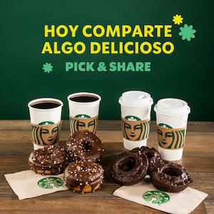 Starbucks: Coffee Break dulce y 4 bebidas tamaño grande a precio especial