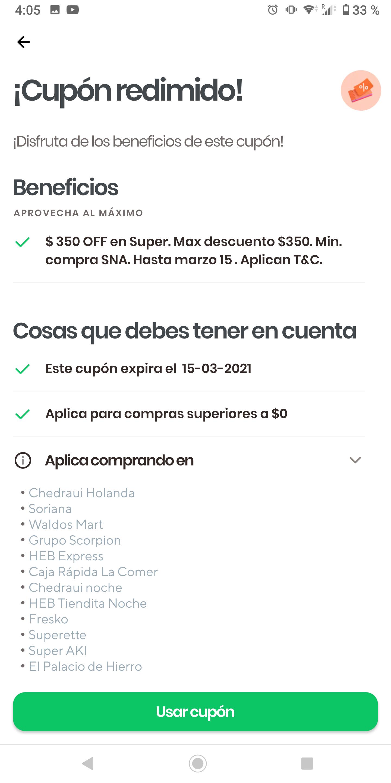 $350 de DESCUENTO RAPPI
