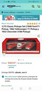 Amazon: 1/72 Classic Pickups Set (1948 Ford F1 Pickup, 1962 Volkswagen T1 Pickup y 1953 Chevrolet 3100 Pickup)
