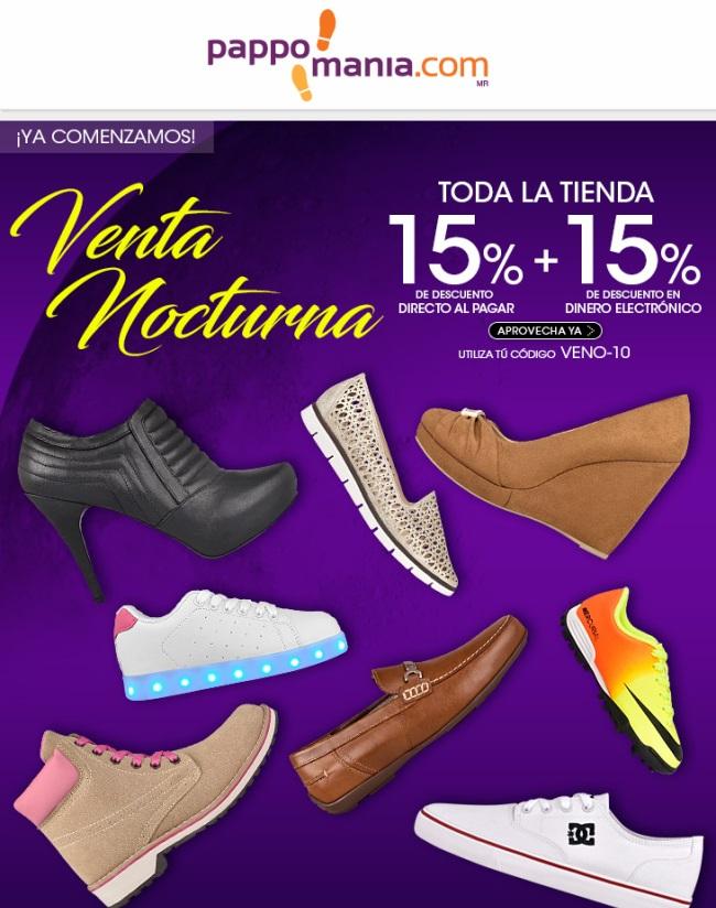 Pappomania: 15% + 15% de Descuento en toda la tienda en Venta Nocturna