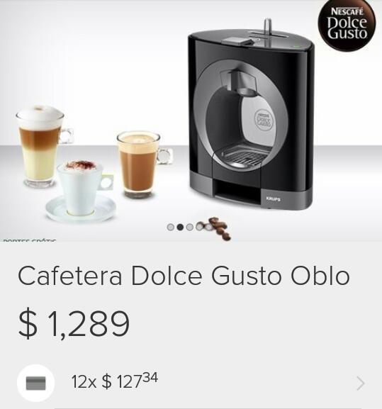 Soriana Pablo Neruda Guadalajara: cafetera Dolce Gusto Oblo de $1,289 a $499