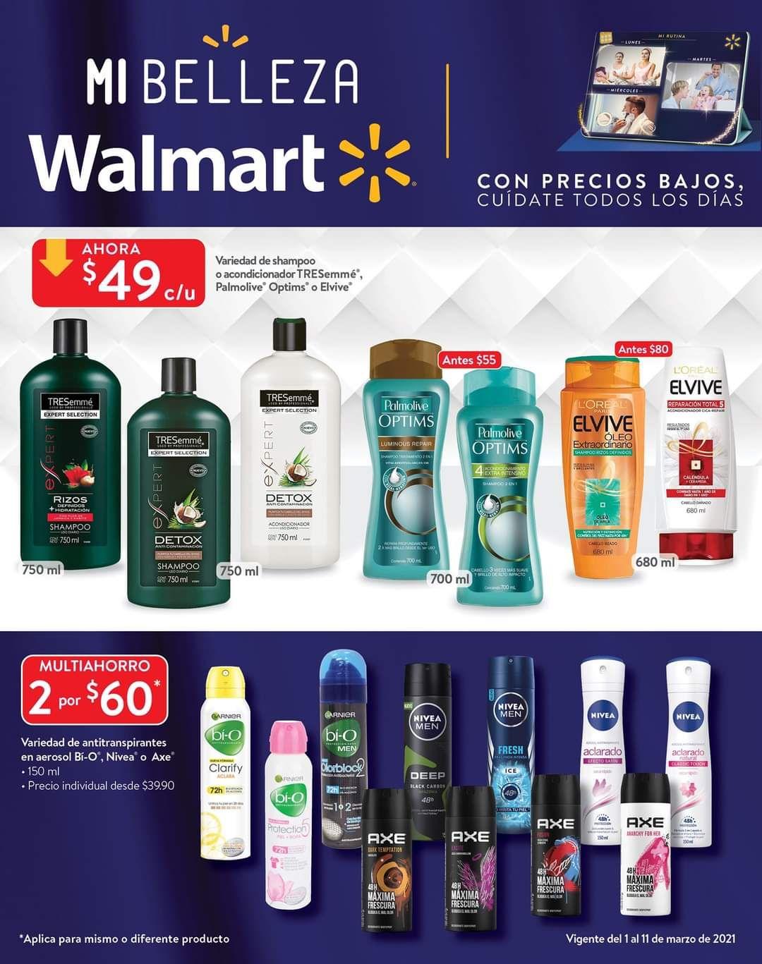 """Walmart: Folleto de Ofertas Quincenal """"Mi Belleza Walmart"""" del Lunes 1 al Jueves 11 de Marzo"""