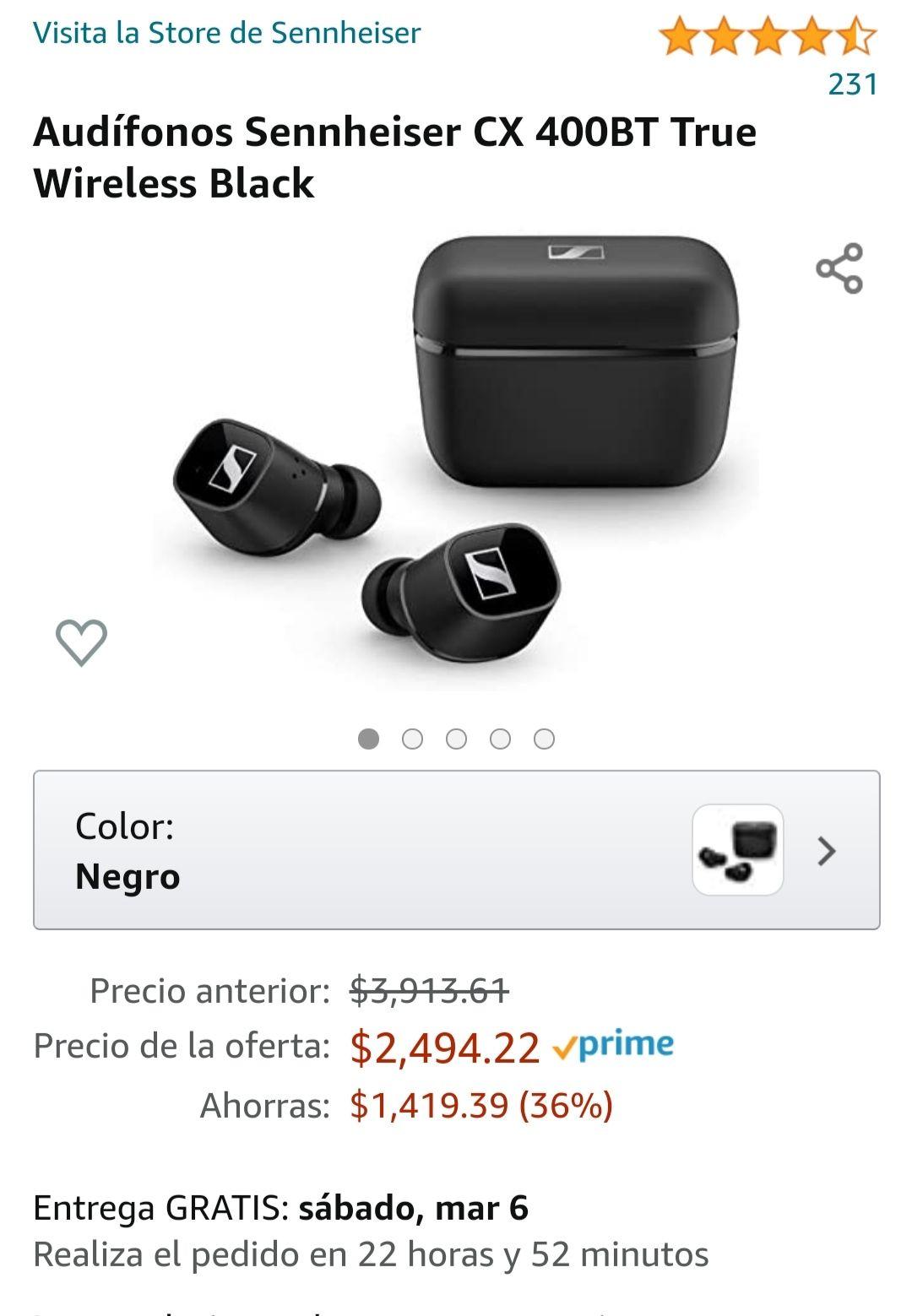 Amazon: Audifonos Sennheiser CX 400BT