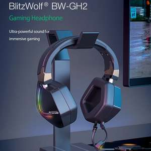 Banggood: BlitzWolf® BW-GH2 Gaming Headphone 7.1 USB RGB Gamer Headset with Mic PC, PS3/4 - 3.5mm