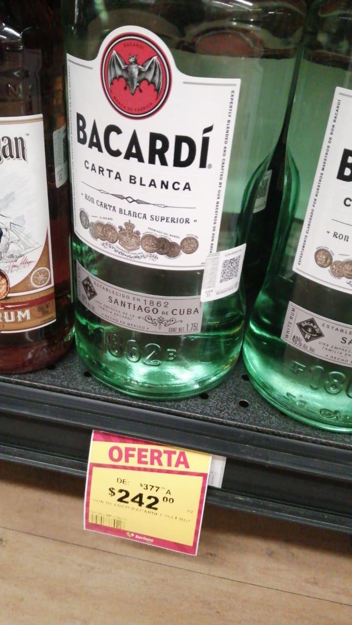 Soriana Ron Bacardi blanco 1.75 L
