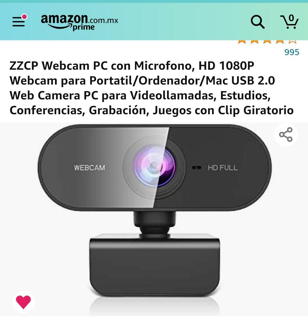 Amazon: Camara web full HD a 1080p, marca ZZCP