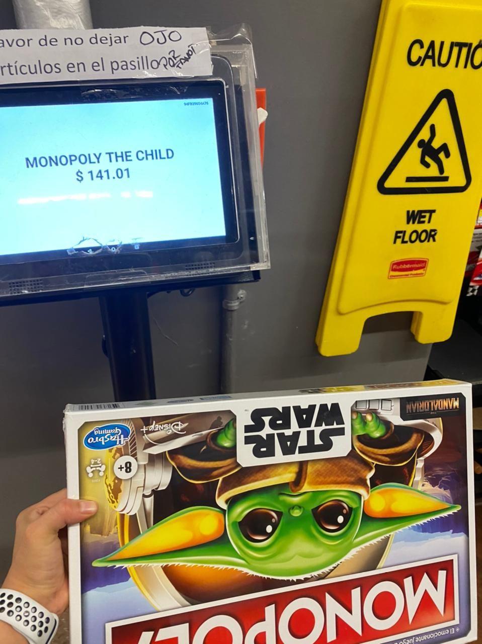 Walmart patio Sta fe: Monopoly Baby Yoda