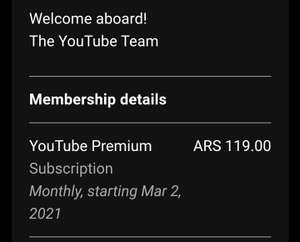 YouTube Premium con VPN Argentina