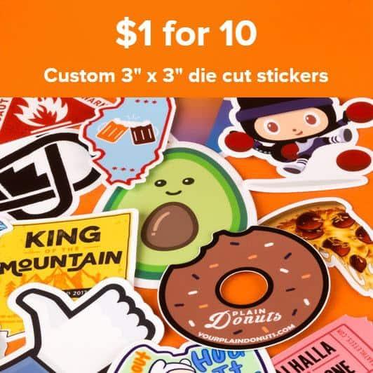 Stickermule: 10 Stickers Troquelados Personalizados + Envío Gratis