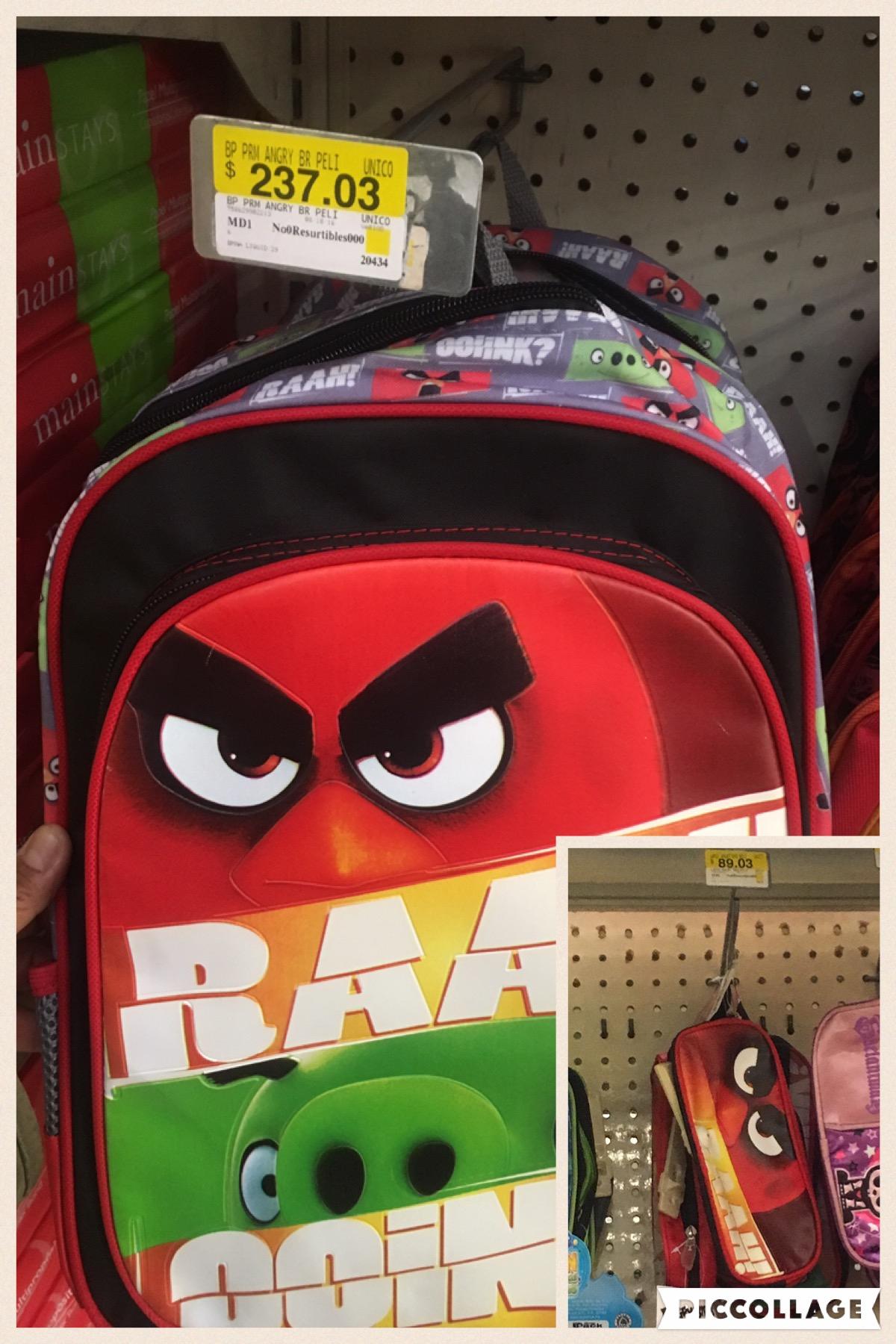 Walmart: liquidación mochila angry birds a $237.03
