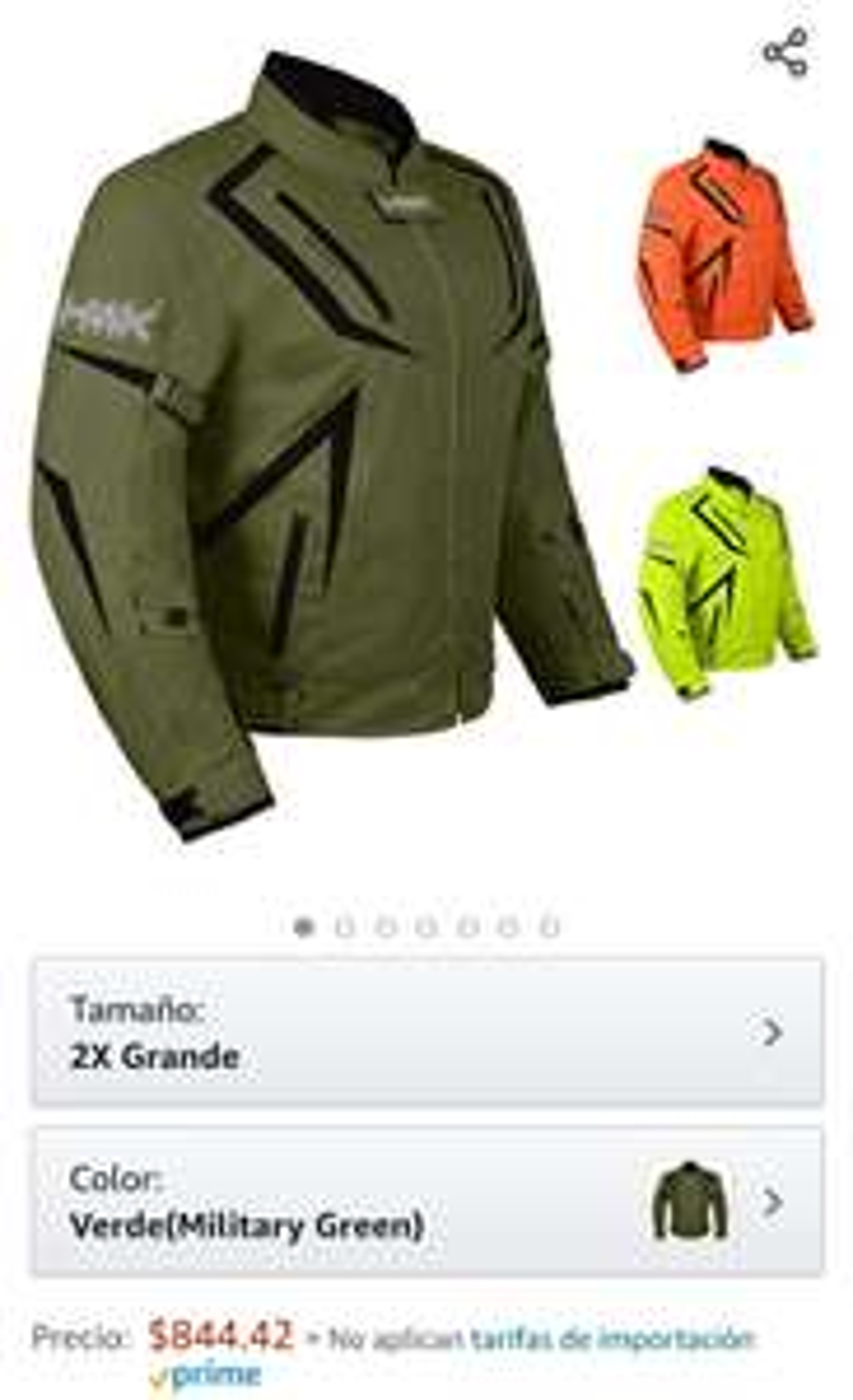 Amazon: Chamarra 2XL de motocicleta HWK para hombre