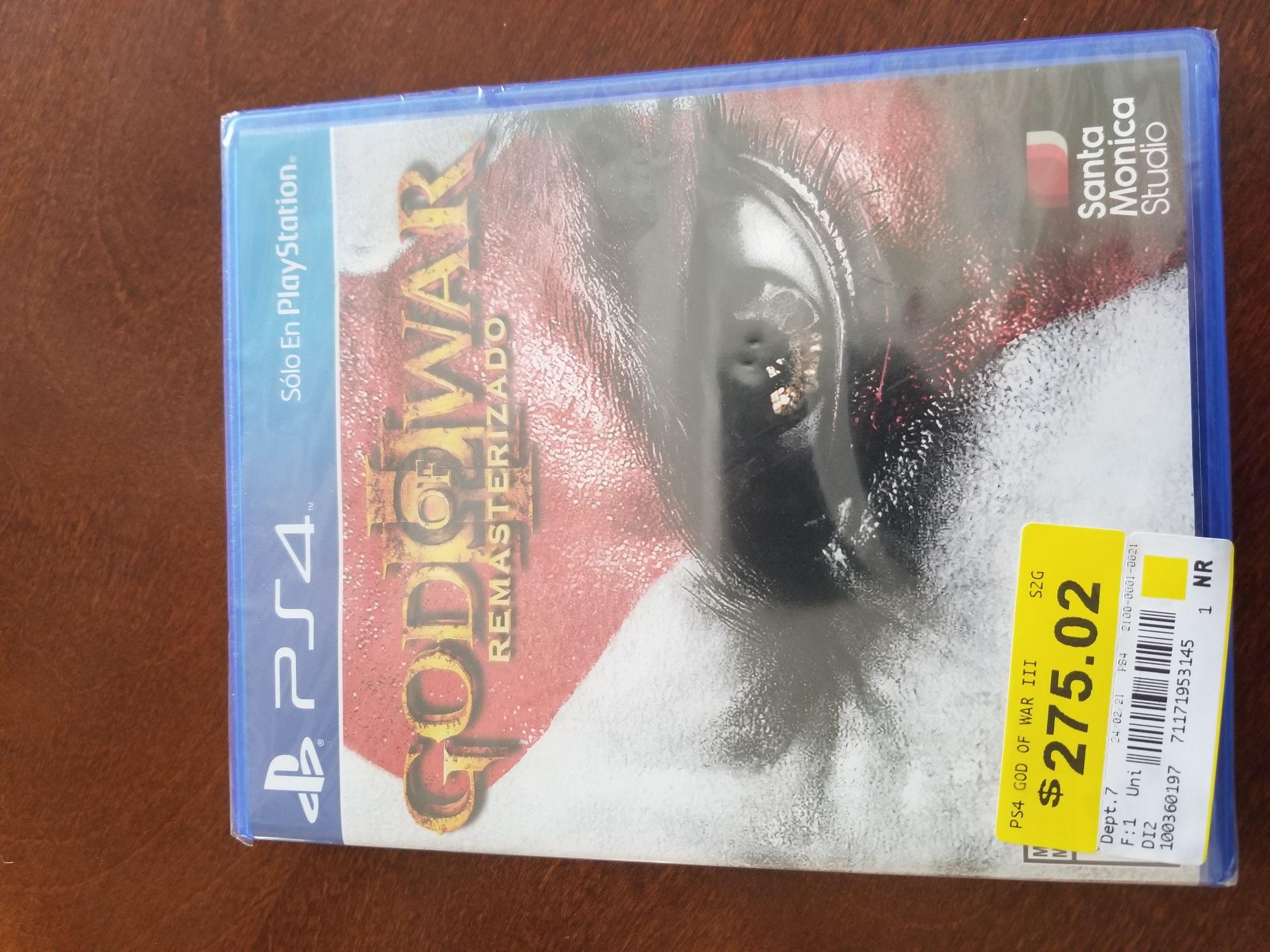 Bodega Aurrera: God of war 3 remasterizado, uncharted 4, the last of US remasterizado, horizon, gran turismo, ps4 (caja azul)