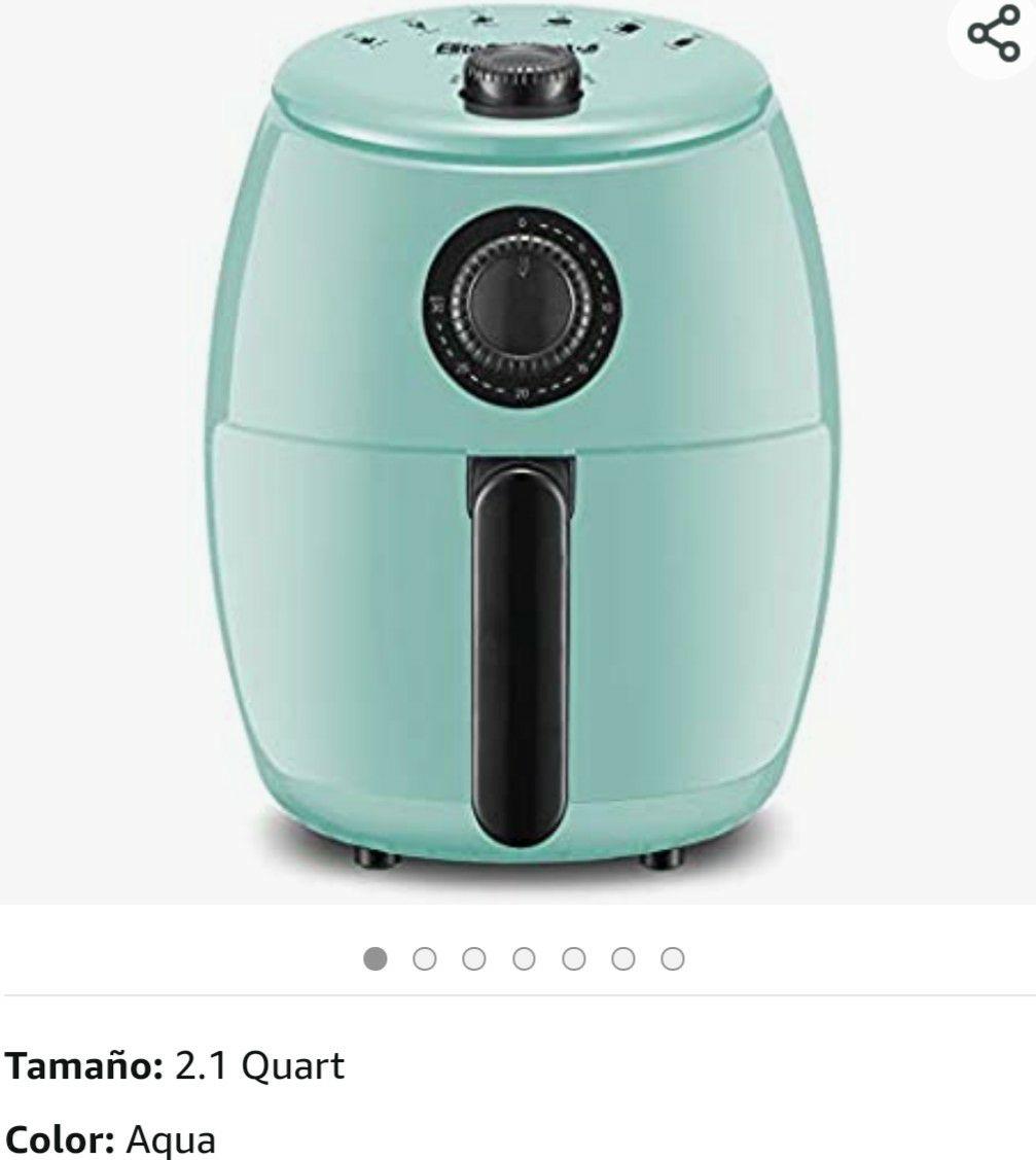 Amazon: freidora de aire aqua (y azul) 2.1q, para una persona glotona o 2 normales