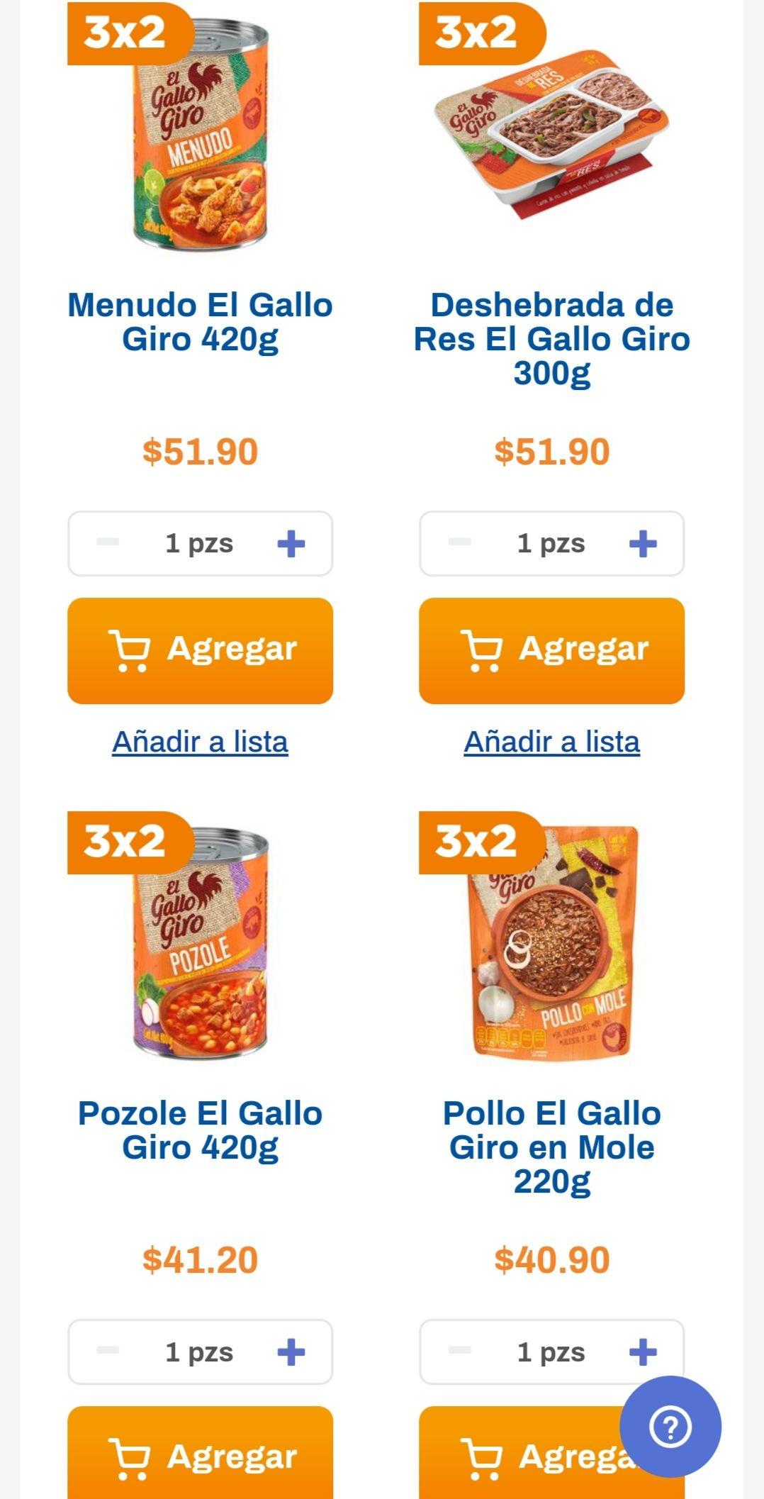 Chedraui: 3 x 2 en productos en El Gallo Giro