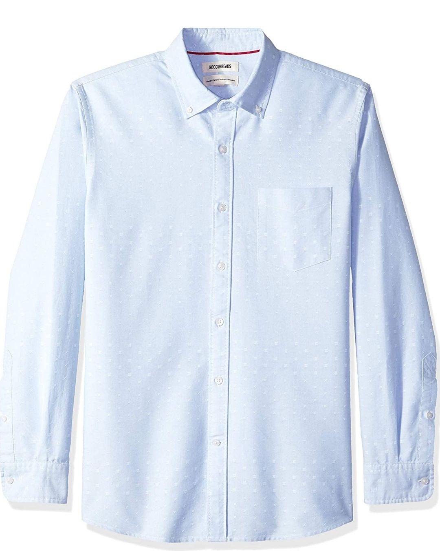 Amazon: Camisa Goodthreads Azul Claro Talla G
