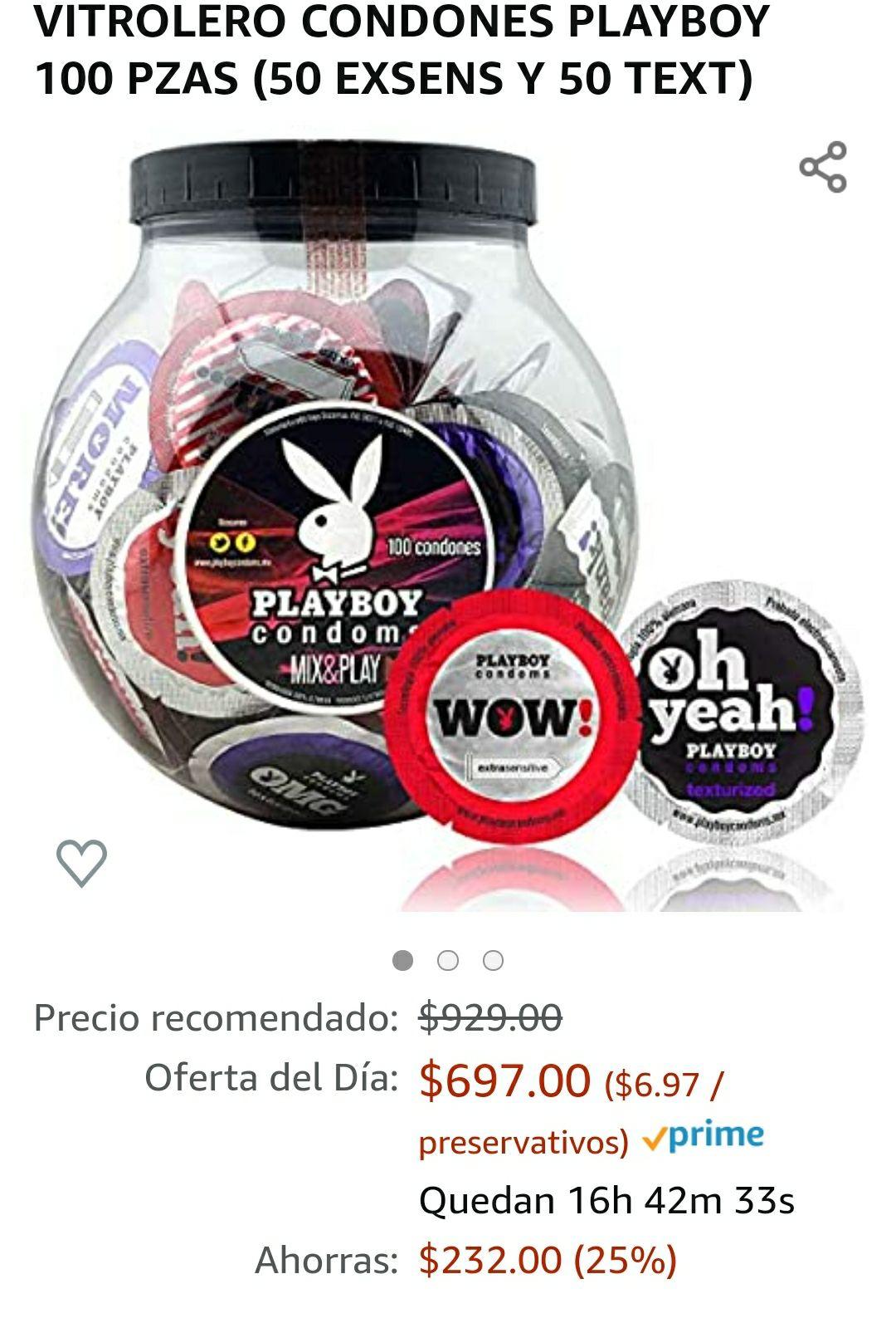 Amazon - 100 condones Playboy | Envío gratis con Prime