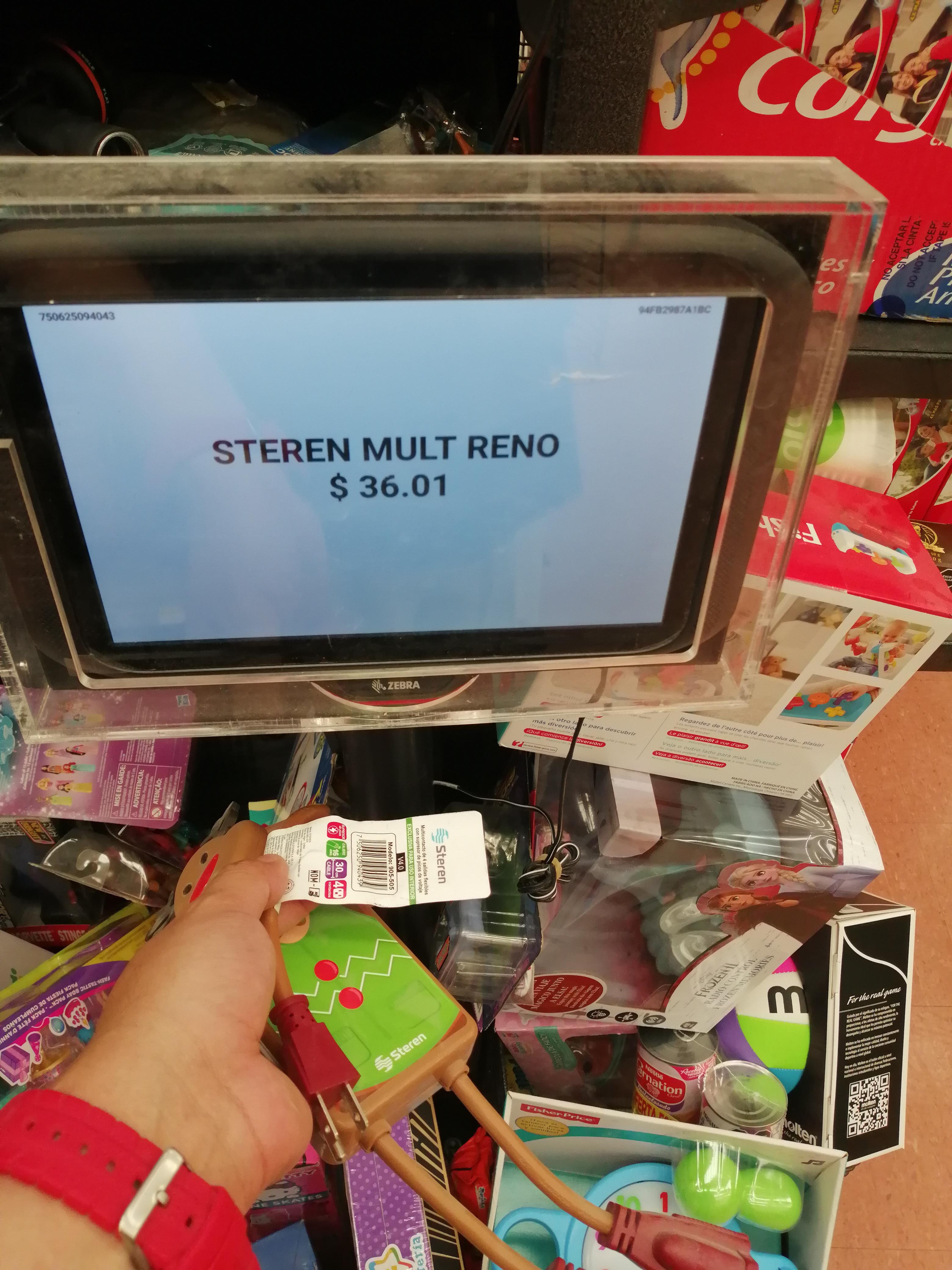 Walmart, multicontacto navideño