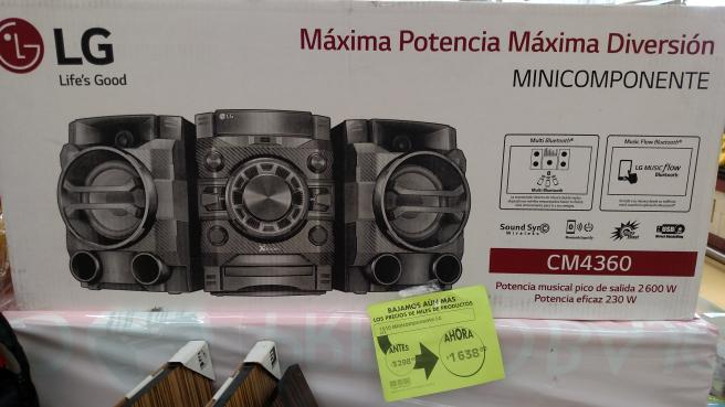Comercial Mexicana Mega Cuernavaca Centro: Minicomponente LG a mitad de precio