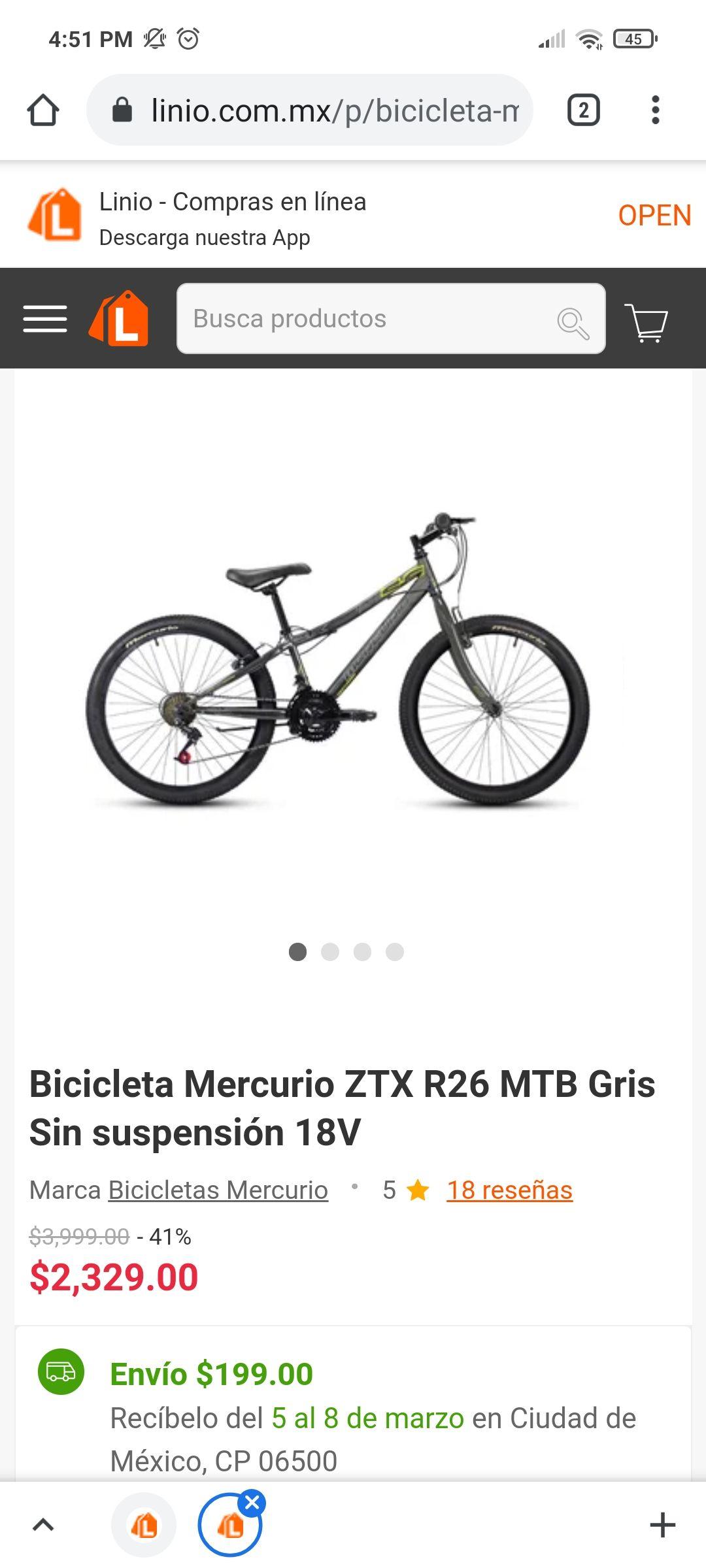 Linio: Bicicleta Mercurio ZTX R26 MTB