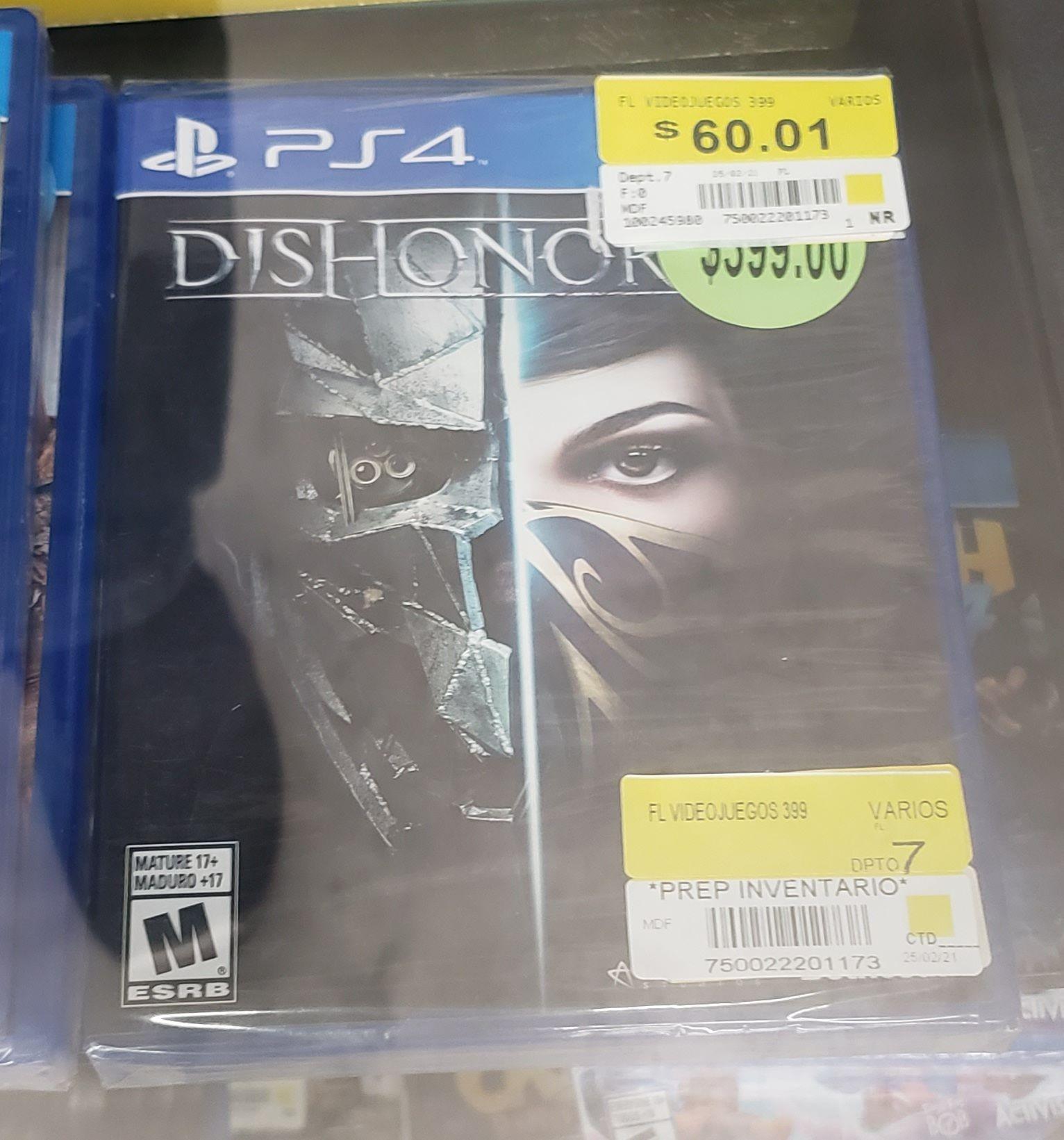 Bodega Aurrerá: Juego PS4 Dishonored.