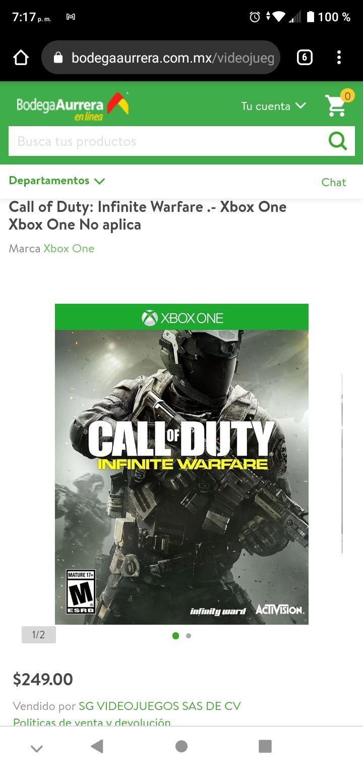 Bodega Aurrera: Call Of Duty Infinite Warfare (Oferta)
