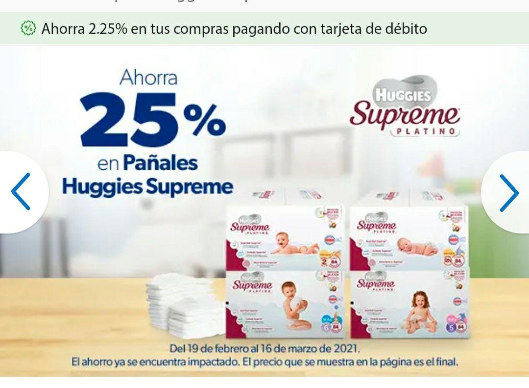 En Sams Pañales Huggies Supreme Platino con 25% de Descuento (Más Barato que Amazon con Planea y cancela)